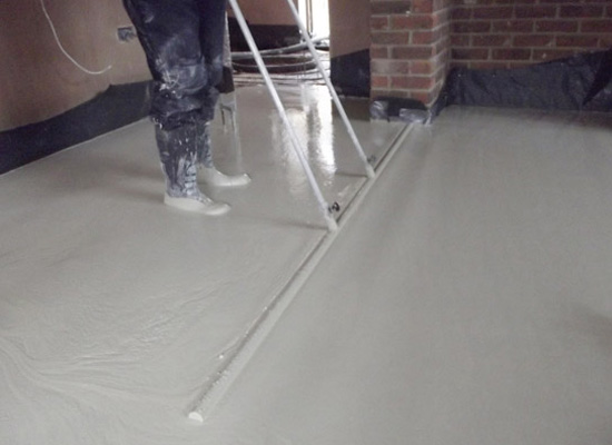 Screed flooring installation