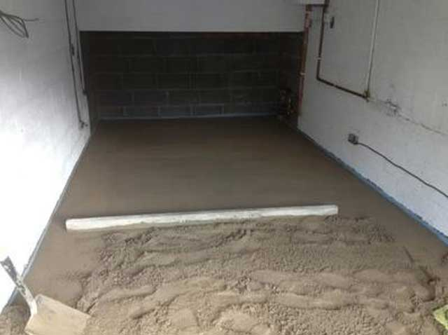 garage floor screed mix